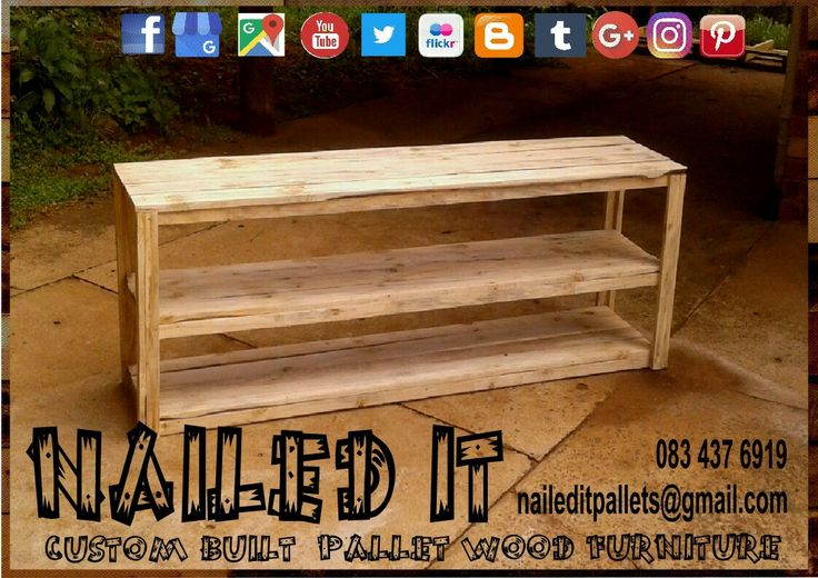 Pallet Wood server table. Perfect for any entrance area or storage. Raw wood finish.  #palletservertable #servertable #palletwoodservertable #nailedpalletfurnituredurban #naileditcustombuiltpalletfurniture #customfurniture #custompalletfurnituredurban #palletfurniture #palletwoodprojects #palletwoodfurniture