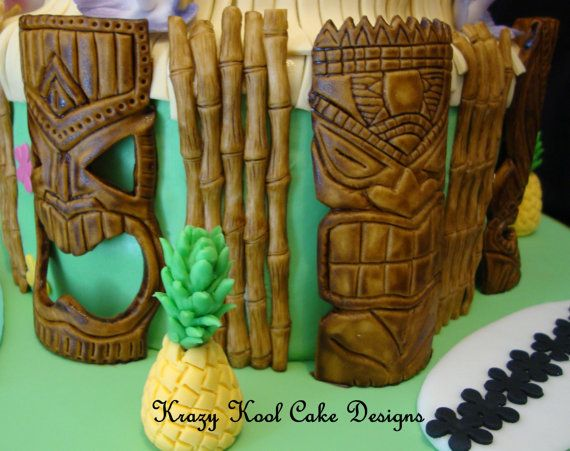 Tiki Wedding Cake Topper