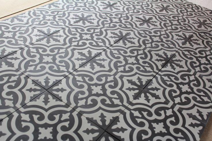Carreaux ciment baroque carreaux ciment gris carreaux de ciment gris fl - Carreaux de ciment gris ...