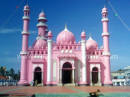Beemapally Masjid in India... if this building is for real i have to go there! a pink castle- are you kidding me!!!!!
