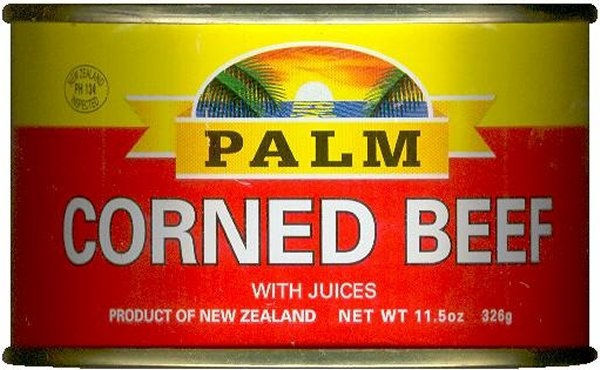 PALM CORNED BEEF,  or currency if like us you don't like it!