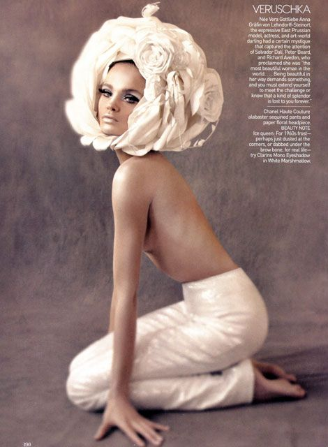 Verushka (1960s supermodel ) | via tumblr