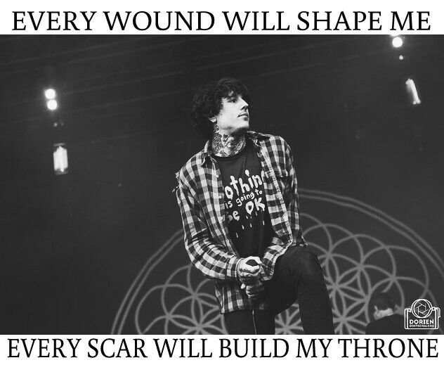 "if you don't really like screamo you should check out ""throne"" by bmth.."