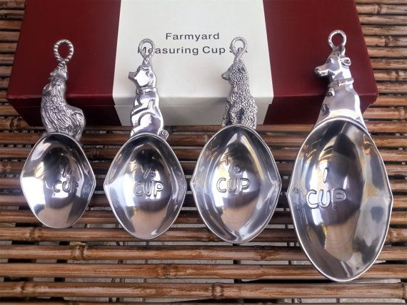 Arthur Court Farmyard Measuring Cup Set of 4 by vintagesouthwest