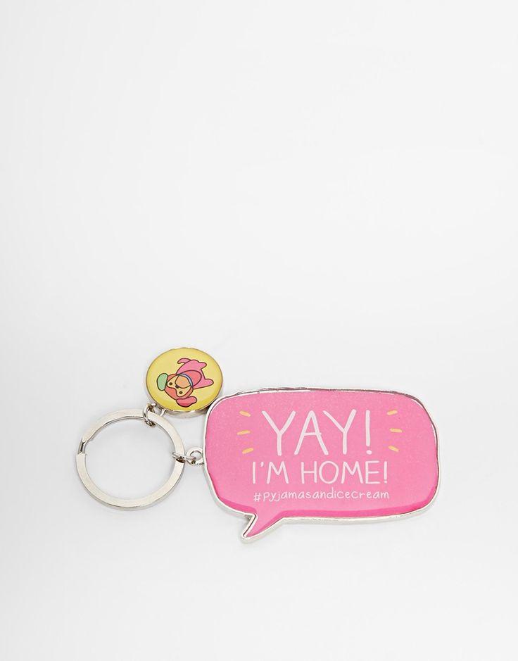 Happy Jackson Yay I'm Home Key Ring