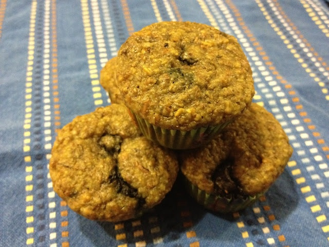 Make muffins out of whatever you have on hand.  Build your own healthy muffin recipe :)
