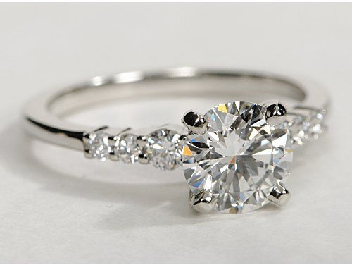 Petite Diamond Engagement Ring in Platinum pretty, but