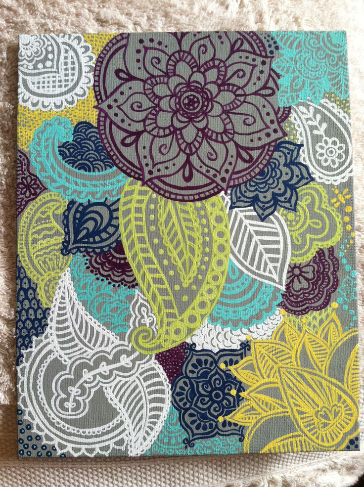 Canvas henna design