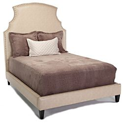 @Overstock - Set includes: Headboard, bed rails, low footboard  Materials: Wood, fabric and large chrome nails   Finish: Espresso   http://www.overstock.com/Home-Garden/JAR-Designs-The-Emilia-Eastern-King-size-Bed/6297151/product.html?CID=214117 $1,567.99