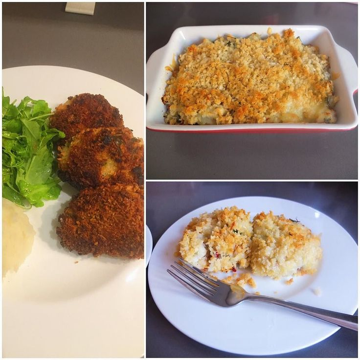 Fish cakes from a couple of days ago with leftover filling repurposed for Sunday's fish pie lunch. Cod poached in milk with truffled mash and cheddar and covered with panko breadcrumbs. #MangiaBene #TalesFromNW #HomeMade