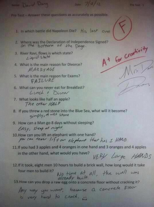 Not sure if this is real, but it is definitely funny! Especially number 11! Lol