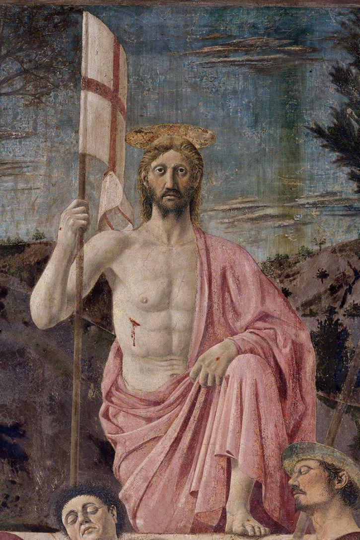 Piero della Francesca - Resurrezione di Cristo, dettaglio - affresco - 1463-65 - Pinacoteca comunale di Sansepolcro.