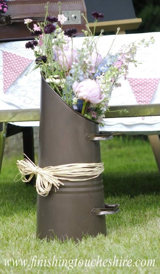 14 best our wedding decoration hire range norwich and norfolk uk coal scuttle with local grown british flowers finishingtouchesfloraldesign junglespirit Images
