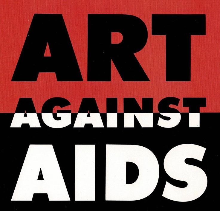 Work of the Week!  The 1987 Art Against AIDS fundraiser was an unprecedented effort by 500 artists and 70 galleries to support AIDS research through 6 months of art sales benefiting the American Foundation for AIDS Research (AmFAR). AmFAR utilized this typography in multiple promotions including in poster form (now in the Cooper Hewitt collection) and in a PSA recorded by the B-52s.