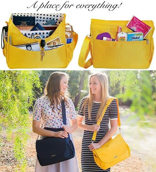 For girls only! The Sister Bag! Everything you could want in a sister missionary bag. Designed for sisters, by sisters! And its waterproof too! #calledtoserve