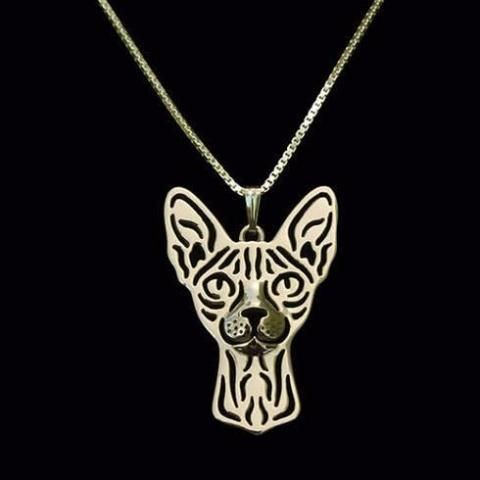 This beautiful #sphynxcat Prune #Necklace is the perfect #gift for #catlovers . In Gold or silver color, you can choose the one you prefer for you but also the one you prefer to offer! cat necklace | cat necklace diy | cat necklace silver | cat necklace diamond | cat necklace personalized | Cat Necklaces | Cat necklaces | Cat Necklaces | cat necklace |
