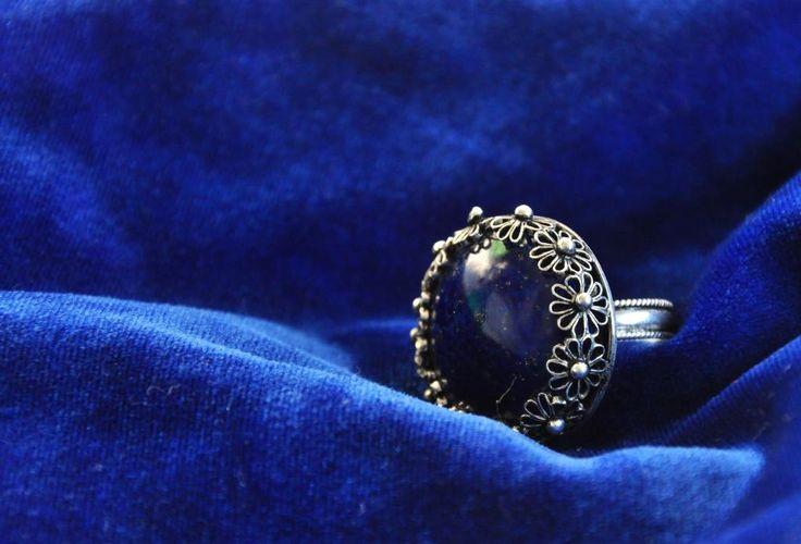 Royal Blue  Traditional Silver Filigree www.silverfiligree.tumblr.com