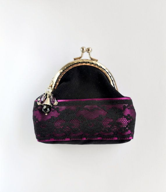 Black and purple coin purse Black coin purse by Blackpassion