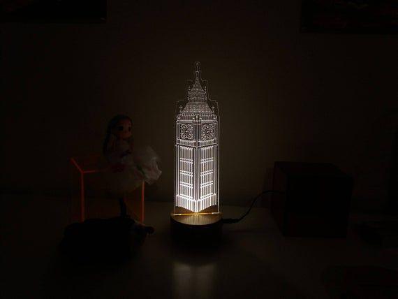 Free Shipping Big Ben Clock Clock Tower Lamp London 3d Night Lamp 3d Night Light Illusion Light Led Lamp Bedroom Lamp Table Lamp In 2020 3d Night Light Lamp Night Lamps