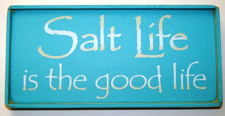 Country Marketplace - Salt Life is the good life Wood Sign, $24.99 (http://www.countrymarketplaces.com/salt-life-is-the-good-life-wood-sign/)