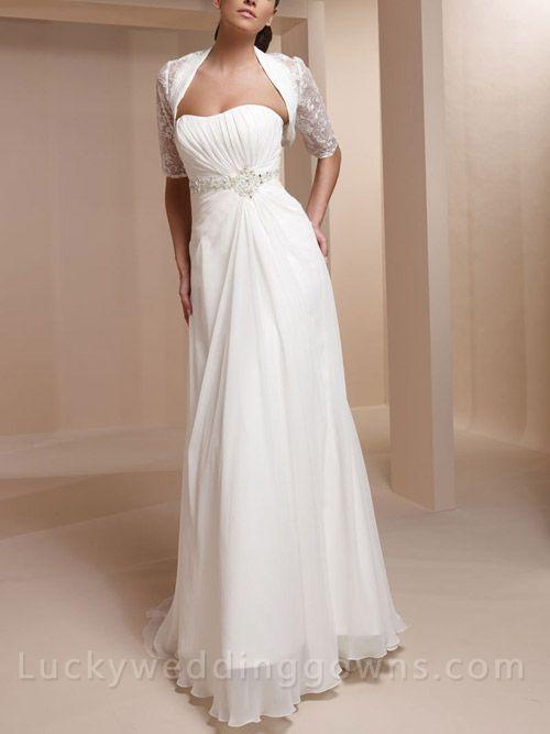 A-line Two-piece Wedding Dress with Sweetheart Neckline