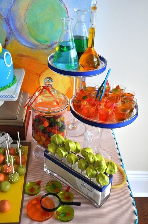 Mad Science Birthday Dessert Table | Spaceships and Laser Beams