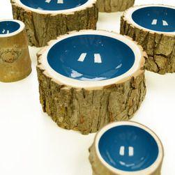 Ink Blue Log Bowl - Fairgoods