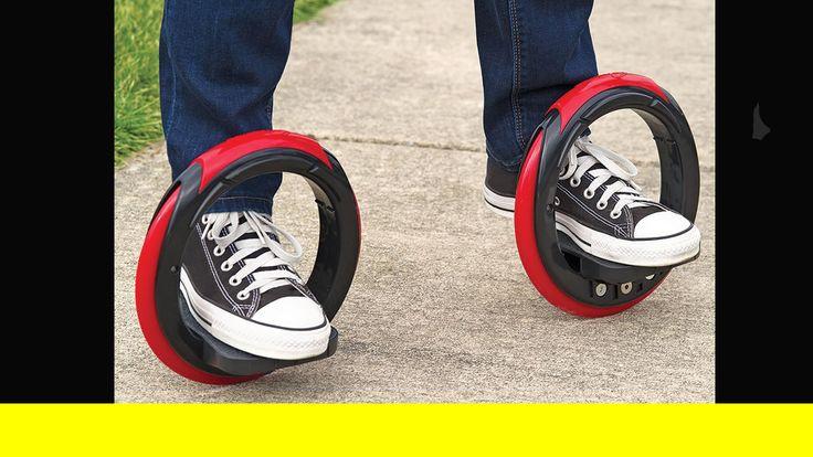 Skaten of skateboarden???hammacher schlemmer's sidewinding circular skates can turn 720°