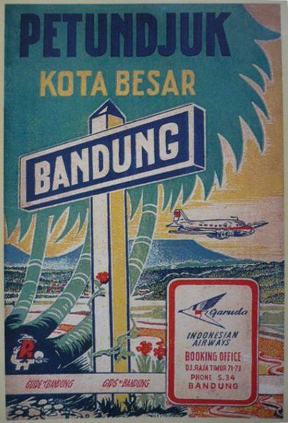 Vintage flight advertisement in Indonesia -Garuda Indonesian Airways