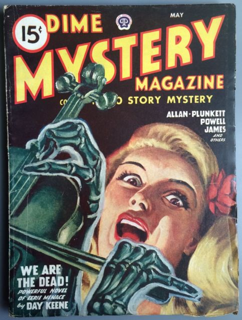 Dime Mystery Magazine - May 1947 - (Detective Pulp Magazines For Sale)