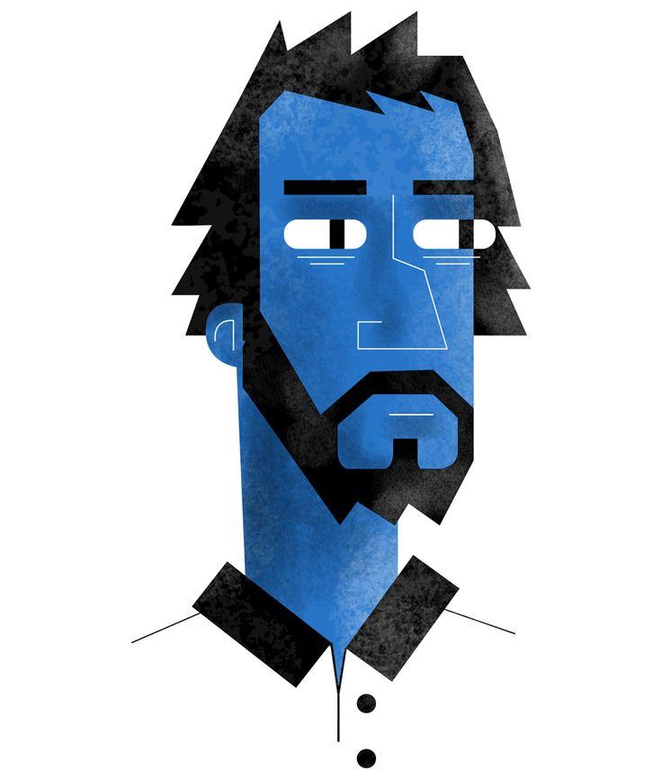 illustration by MARC-ETIENNE PEINTRE, self-portrait http://www.owlillustration.com/