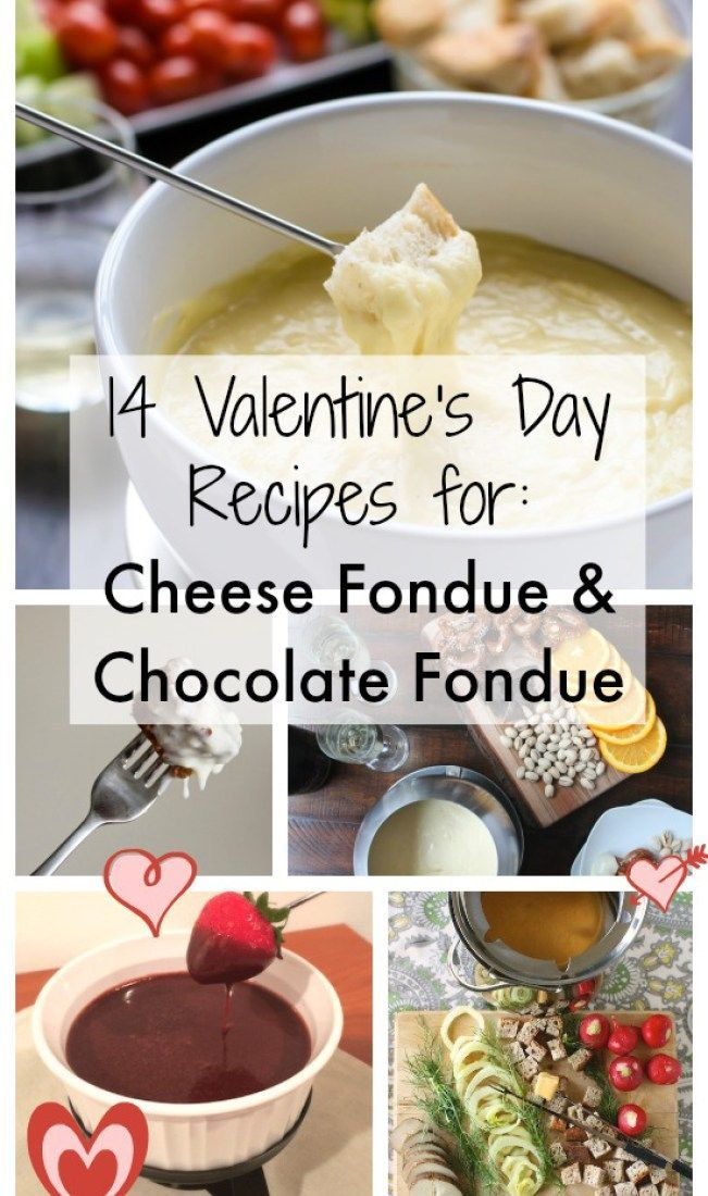 14 Chocolate Fondue and Cheese Fondue recipe ideas for Valentine's Day! Recipes at http://Teaspoonofspice.com