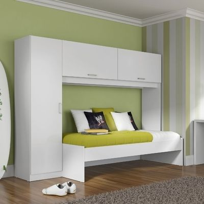 Guarda-roupa com cama embutida Multidecor Branco - Multimoveis
