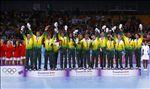 Seleção Brasileira Feminina no pódio