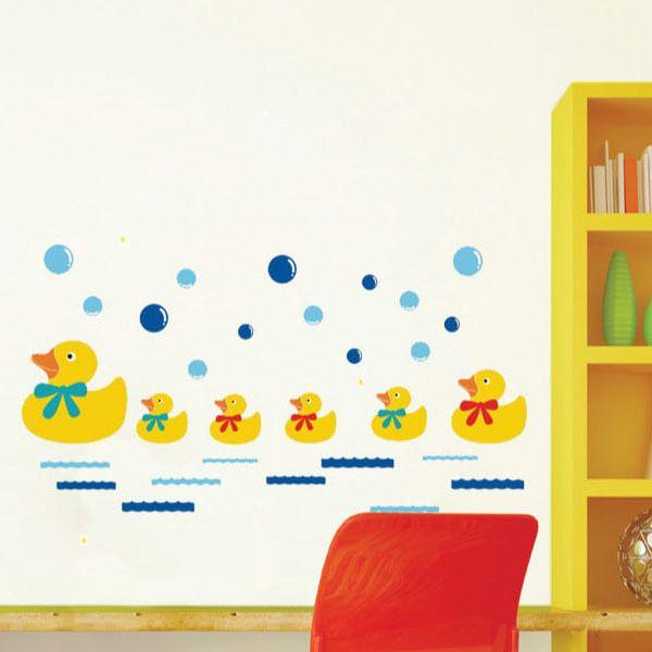 Горячий стиль популярных удалить детский сад детская комната туалет ванной плитка, декоративные воды утка стены стикеры
