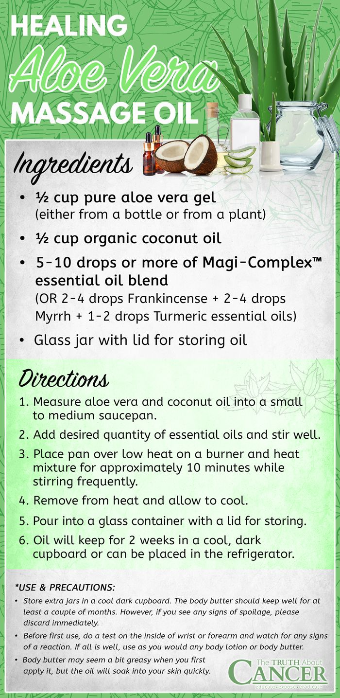 You know that getting regular massages helps release tension, toxins, stress, and headaches. What you may not know is that using essential oils in your massage can help fight cancer! Click on the image and discover how essential oil massage can play an important role in cancer prevention and healing, a recipe for a healing Aloe Vera Massage Oil and an Essential Oil Benefits Guide..