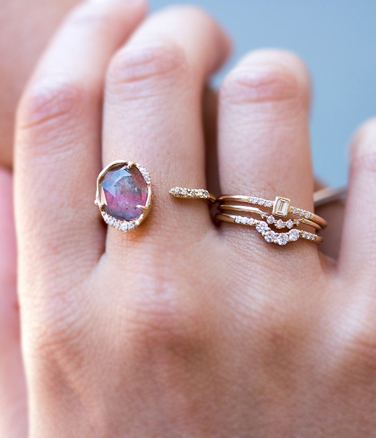 Mixing statement jewels with our favorite delicate stackers !! #loveaudryrose @loveaudryrose