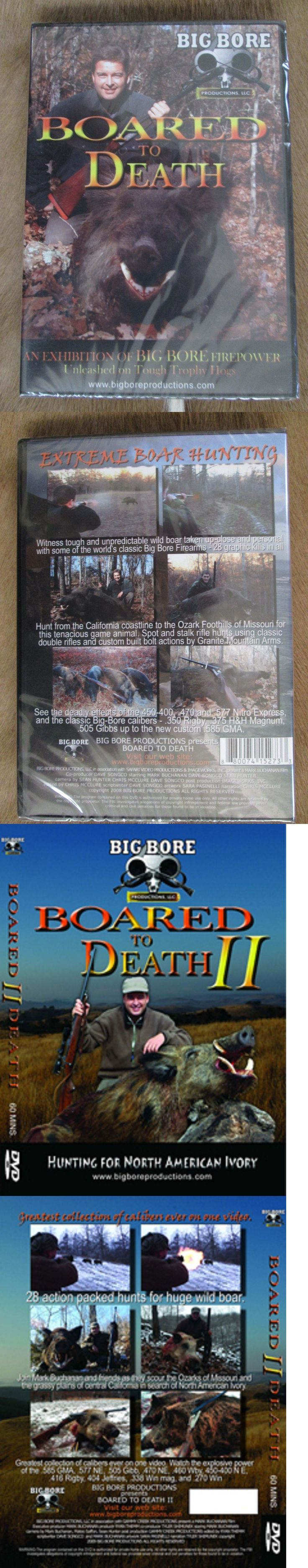 Books and Video 7304: Boared To Death 1 And 2 Wild Boar Hunting Video Big Bore Productions 2 Dvd Set BUY IT NOW ONLY: $49.95