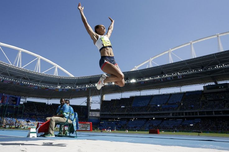 Jessica Ennis-Hill of Great Britain competes in the Women's Heptathlon Long…