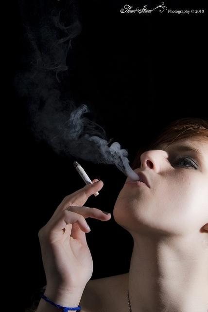 Marianne Smokes (Edit) by thom_stone23, via Flickr