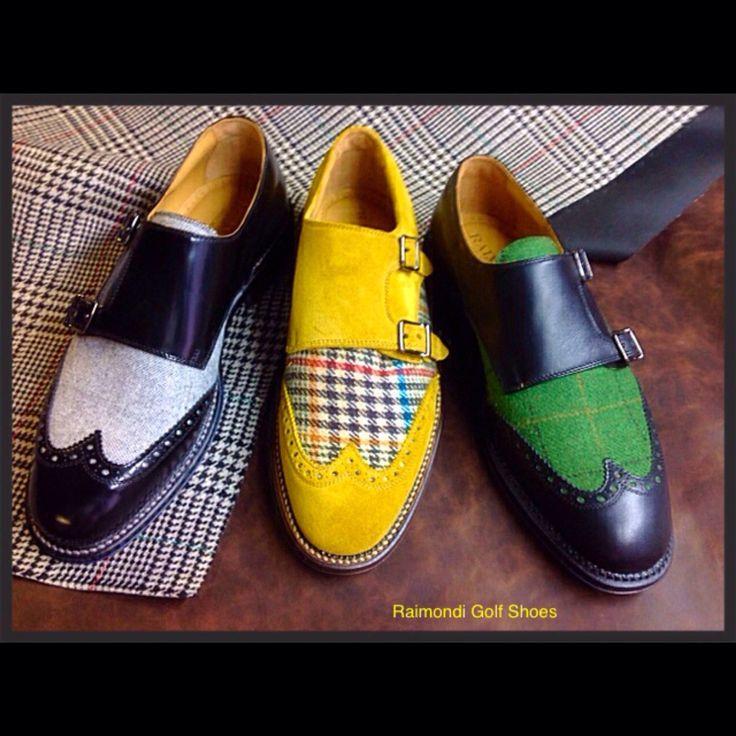 Raimondi Walking Shoes.. linea passeggio.. Doppia fibbia con tessuti vari  #raimondigolfshoes #golfshoes #italiangolfshoes #madeinitaly #handmadeinitaly #italianstyle #walkingshoes #man #woman #italy