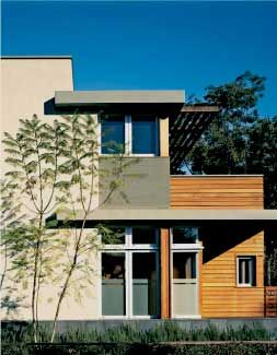 contempory stucco and wood houses with outdoor fireplace google search