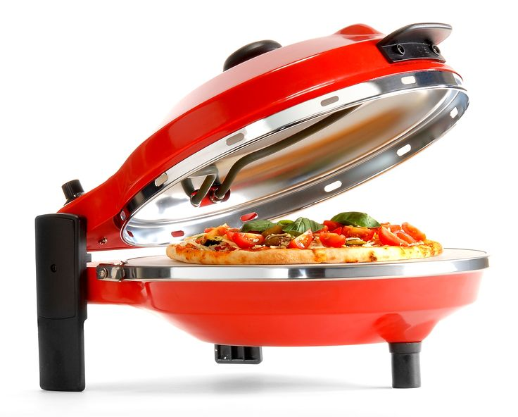 Cooks a pizza in approximatley 5 minutes  • Oven gets to around 300' C • Heats and ready to cook in 5 minutes • Great for kids parties • Makes a great gift idea • Fits in a standard Cupboard • Sit it on kitchen bench, kitchen table or outdoor setting • Delivered in 7 days. • Great for caravan or holiday house