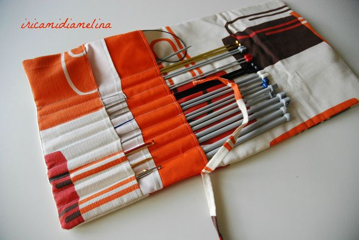 iricamidiamelina: Porta ferri da maglia e uncinetto - Cucito Creativo