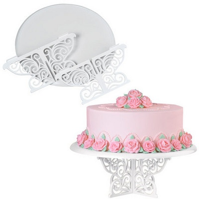 Fancy Scrolls Cake Stand by Wilton  sc 1 st  Pinterest : wilton cake plates - pezcame.com