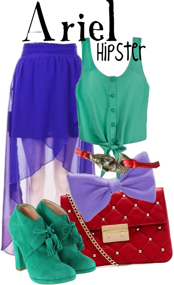"""""""Hipster Ariel"""" by lauren-claire-bacher on Polyvore"""