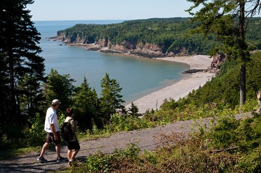Fundy Trail, New Brunswick - Situated just outside of St. Martins and less than an hour's drive from Saint John, the Fundy Trail unlocks 16 km of seaside beauty #Hiking