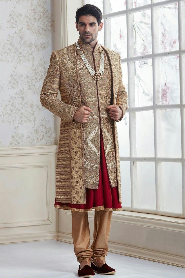 0d69dcad1e4 rajshahi type tripple layer zardosi sherwani | mens Sherwani ...