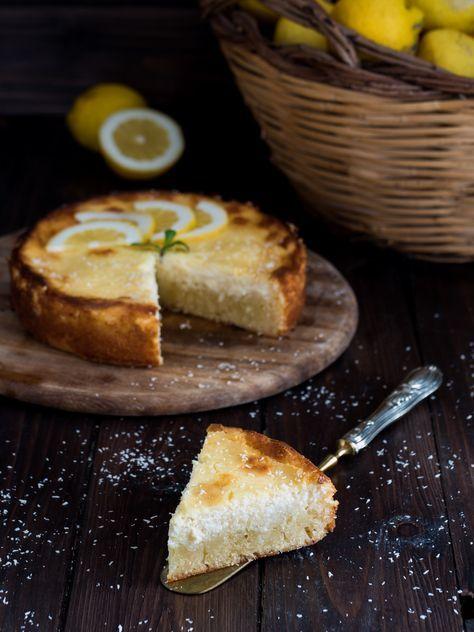 Torta cheesecake cocco e limone