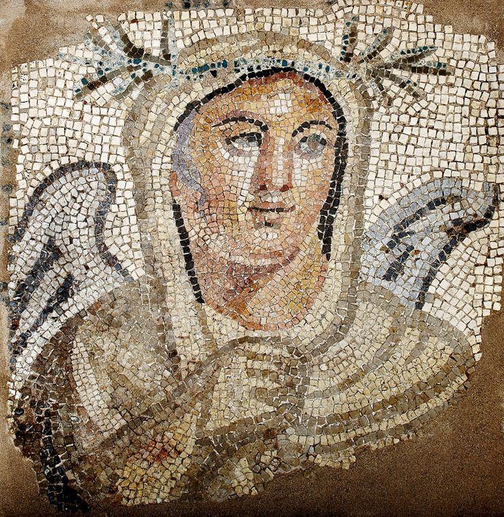 Detail of a mosaic floor of an urban villa in Thessaloniki, 2nd century BC